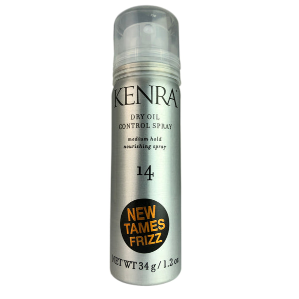 Kenra Dry Oil Control Hair Spray Medium Hold # 14 1.2 oz Tames Frizz Travel Size