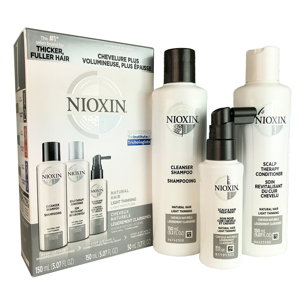 Nioxin System #1 Hair Trial Kit Cleanser Scalp Therapy Scalp Treatment 5.07 oz
