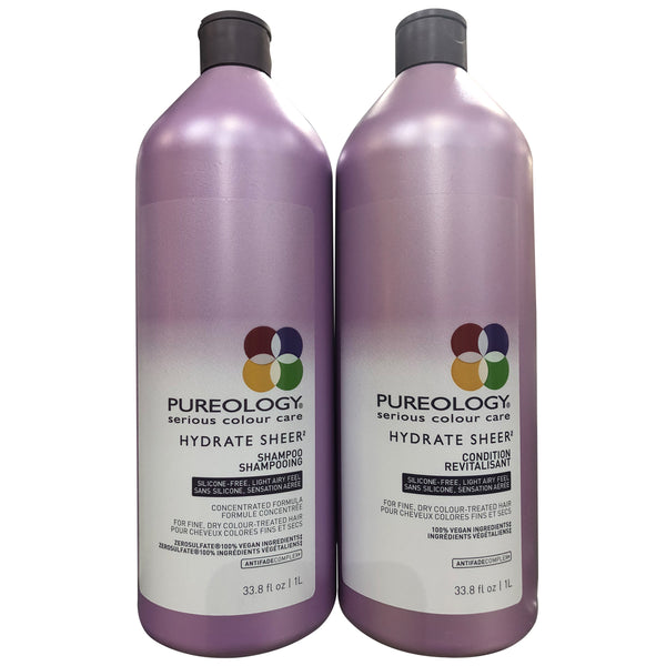 Pureology Serious Colour Care Hydrate SHEER Shampoo and Conditioner 33.8 oz each