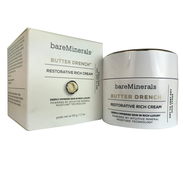 BareMinerals Butter Drench Restorative Rich Face Cream 1.7 oz