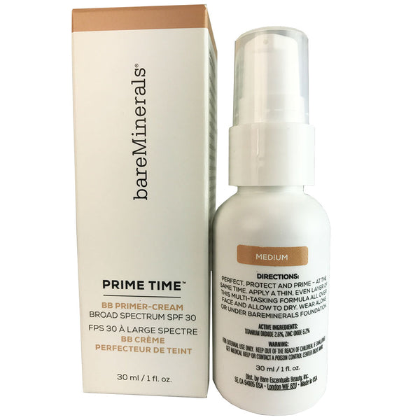 BareMinerals Prime Time BB Primer Cream Daily Defense SPF 30 Medium 1 oz