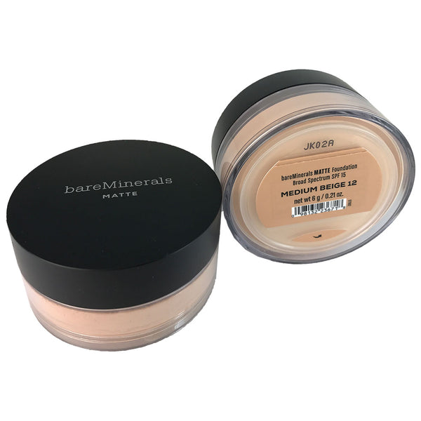 BareMinerals Matte Foundation SPF 15 .21 oz Medium Beige 12