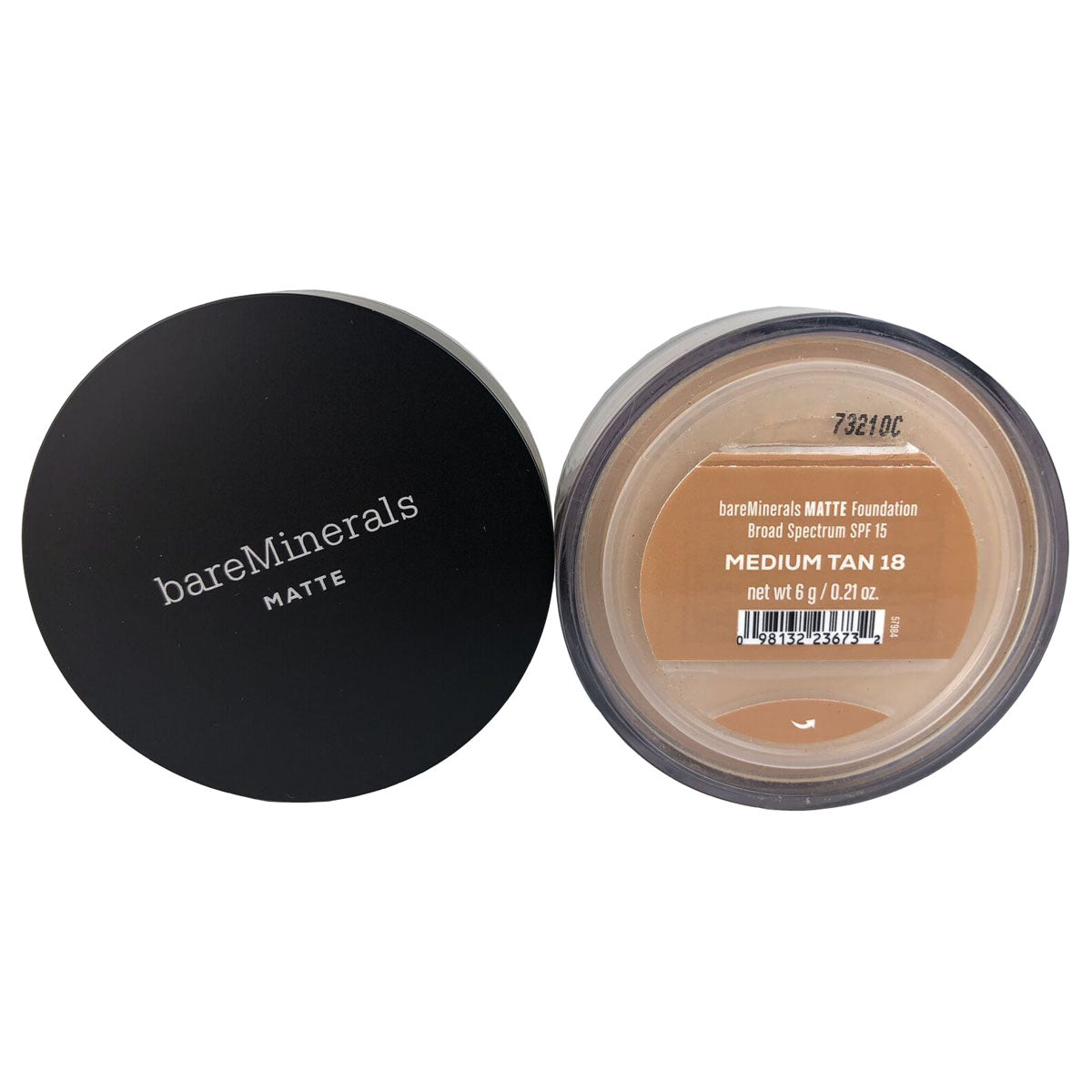 BareMinerals Matte Foundation for Face SPF 15 .21 oz Medium Tan 18