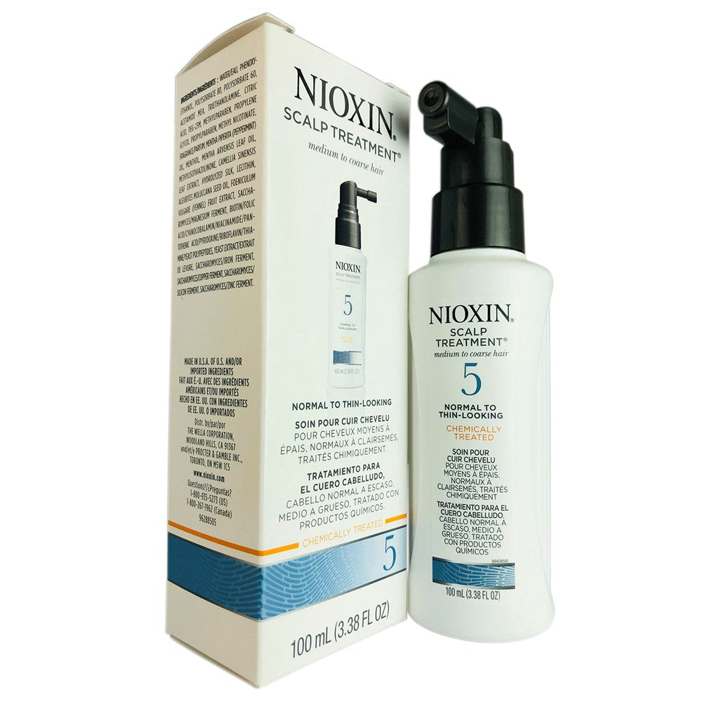 Nioxin System 5 Scalp Treatment Medium to Coarse Hair Normal to Thin Looking 3.4 oz
