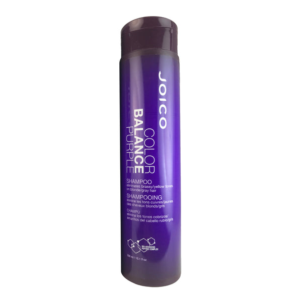 Joico Color Balance Purple Shampoo Eliminates Brassy/Yellow Tones on Blond/Gray Hair 10.1 oz