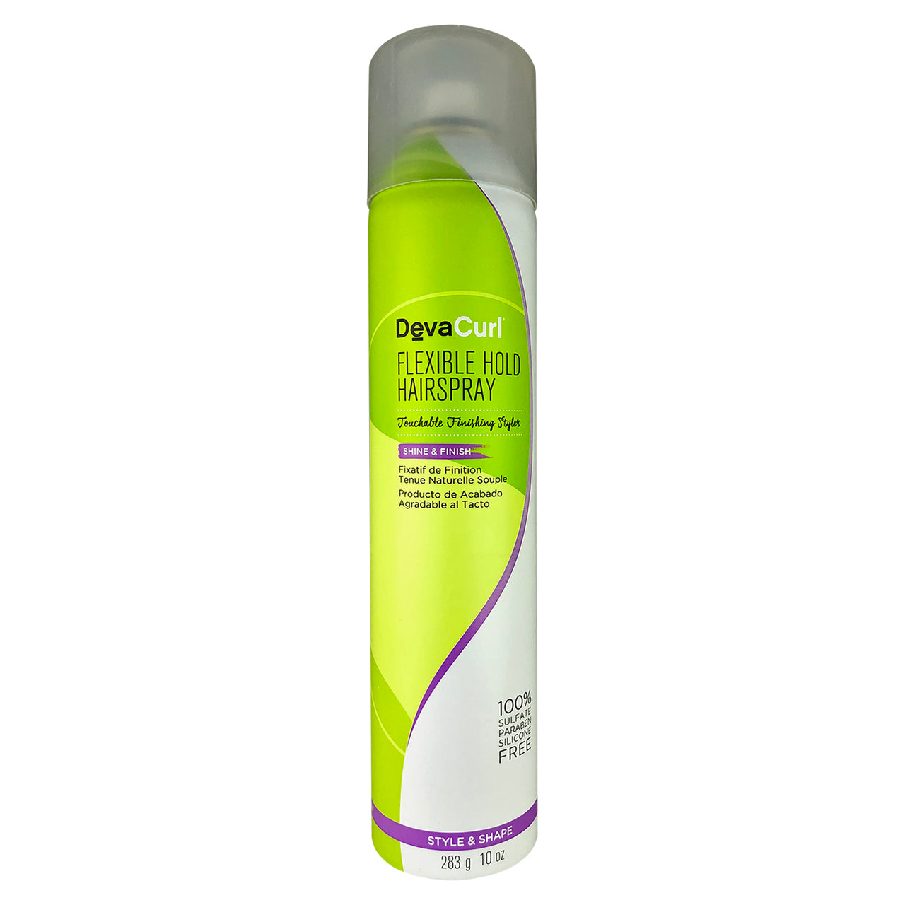DevaCurl Flexible Hold Hairspray Touchable Finishing Styler for Shine & Finish 10 oz 100% Sulfate Paraben Silicone Free