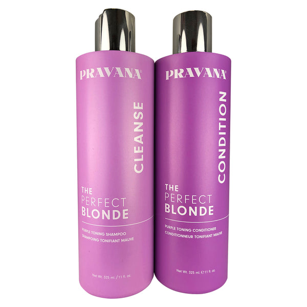 Pravana The Perfect Blonde Purple Toning Hair Shampoo & Conditioner Duo 11 oz each