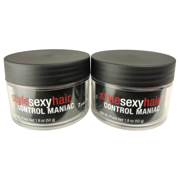 SexyHair Style Sexy Hair Control Maniac 7 Shine 7 Hold Styling Wax 1.8 oz - 2 Pack