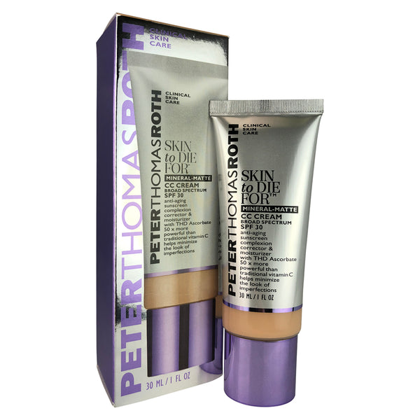 Peter Thomas Roth Medium Skin to Die For Complexion Correction & Moisturizer CC Cream SPF 30 Broad Spectrum 1 oz.