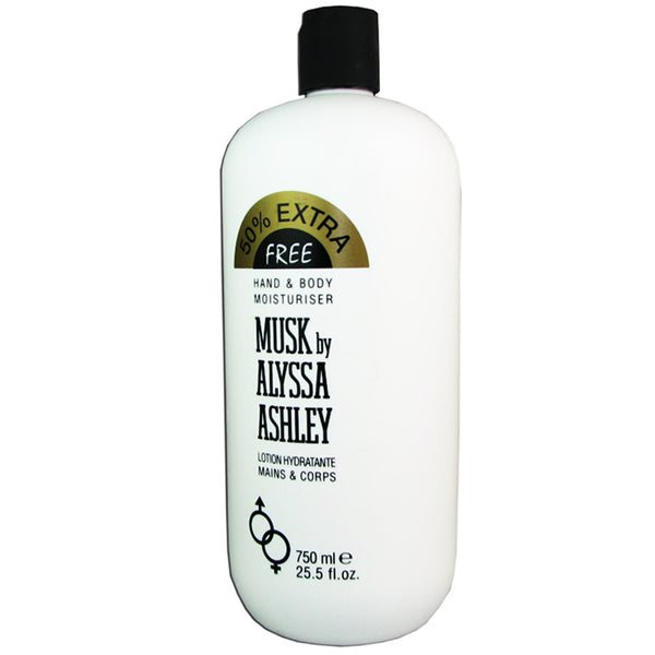 Musk by Alyssa Ashley 25.5 oz 750 ml Hand & Body Lotion