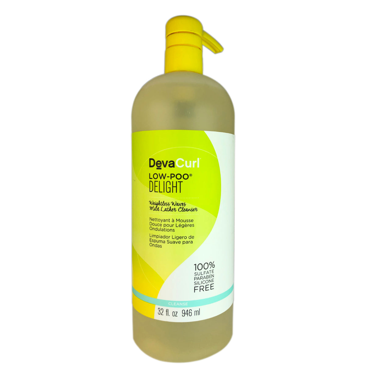 DevaCurl Low-Poo Delight Weightless Waves Mild Lather Hair Cleanser 32 oz