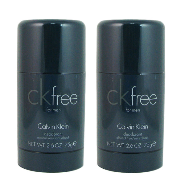 CK Free for Men by Calvin Klein 2.6 oz Deodorant Stick (Two)