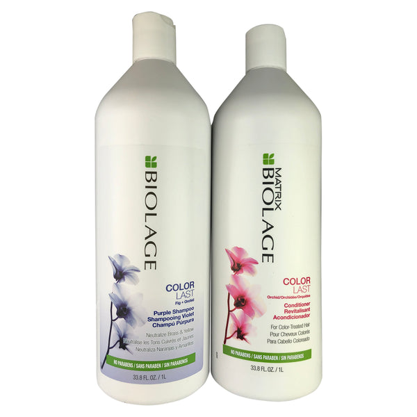 Matrix Biolage Color Last Purple Shampoo & Conditioner Orchid Duo 33.8 oz