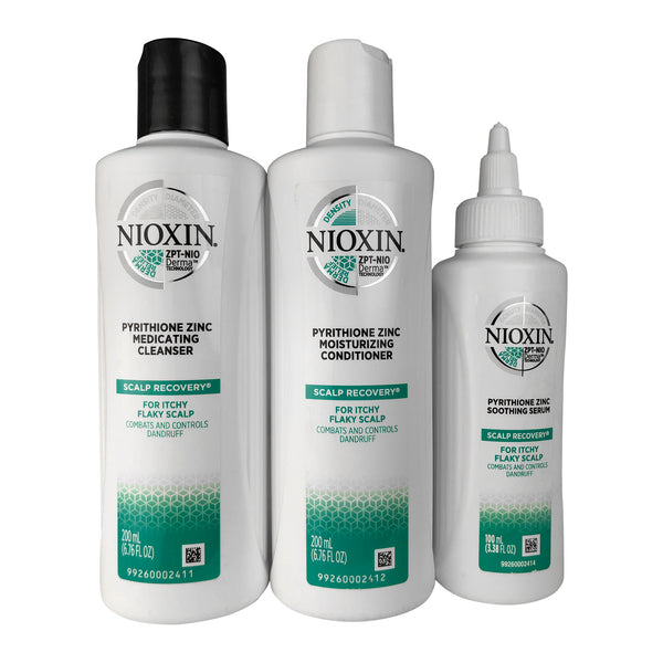 Nioxin Scalp recovery Kit (Cleanser  6.76 oz + Cond 6.76 oz +Serum 3.38 oz)