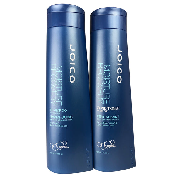 Joico Moisture Recovery Shampoo & Conditioner Duo for Dry Hair 10.1 oz Each + K-Pak color Therapy Luster Lock 1.7 oz