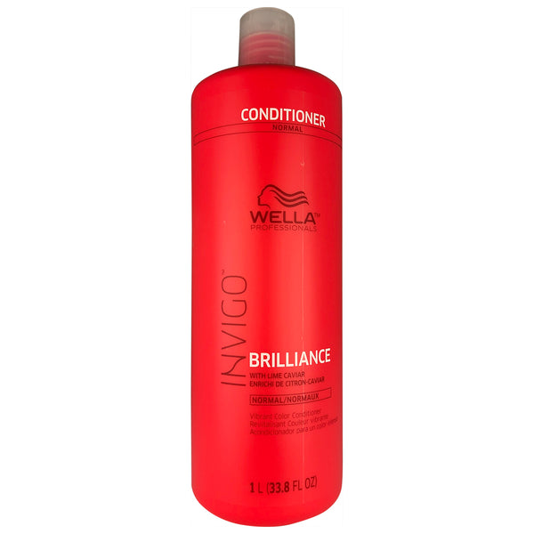 Wella Invigo Brilliance Vibrant Color Hair Conditioner with Lime Caviar for Normal Hair 33.8 oz