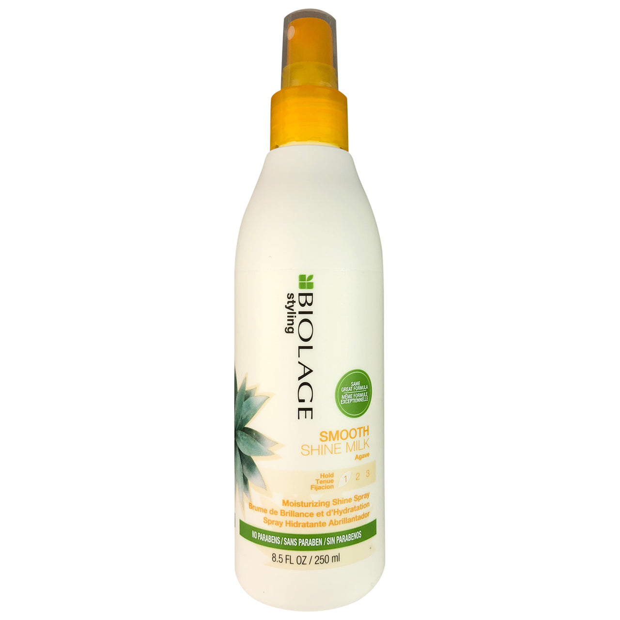 Matrix Biolage Smooth Shine Milk Hold 1 Moisturizing Shine Hair Spray  With Agave 8.5 oz No Parabens