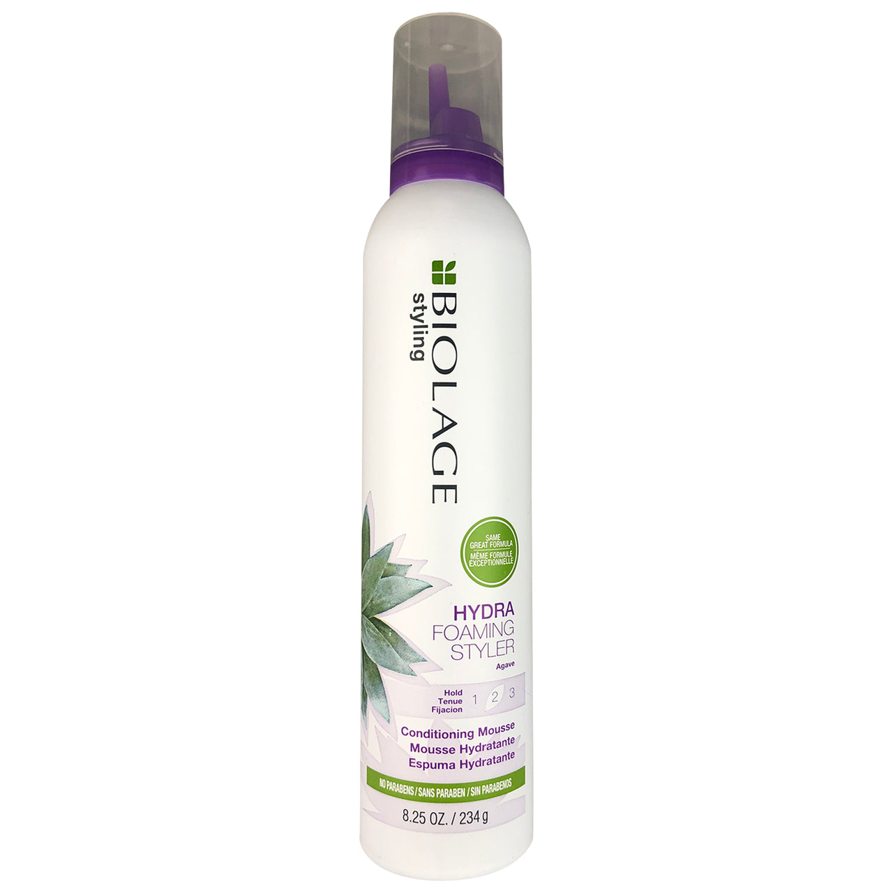 Matrix Biolage Hydra Foaming Styler Hold 2 Conditioning Hair Mouse with Agave 8.25 oz No Parabens