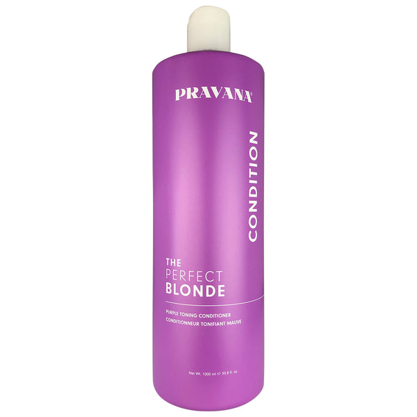 Pravana The Perfect Blonde Purple Toning Hair Conditioner 33.8 oz 100% Vegan Gluten Free