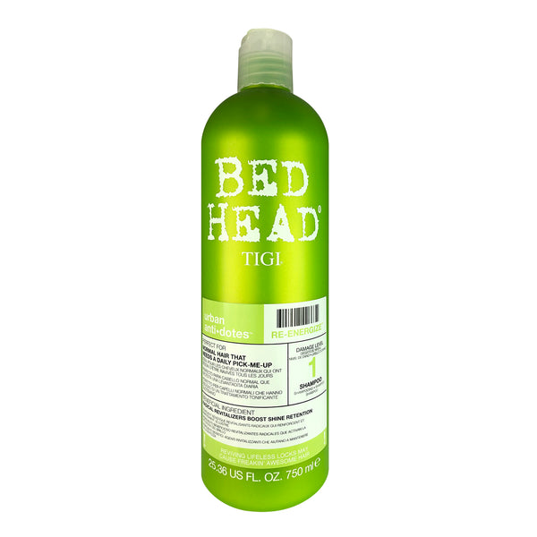 TIGI Bed Head Urban Anti+Dotes Re-Energize Shampoo Level 1 for Normal Hair That needs a Daily Pick Me-Up 25.36 oz