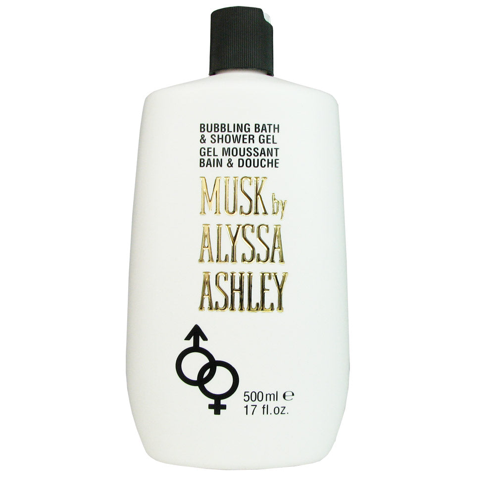 Musk by Alyssa Ashley 17.0 oz Bubbling Bath & Shower Gel