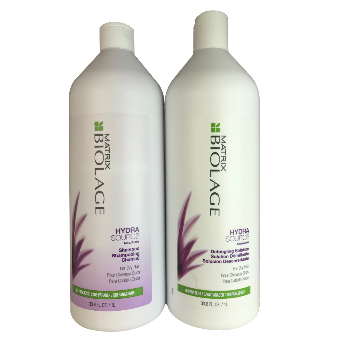 Matrix Biolage Hydrasource Hair Shampoo & Detangling Solution Duo 1 Liter Each