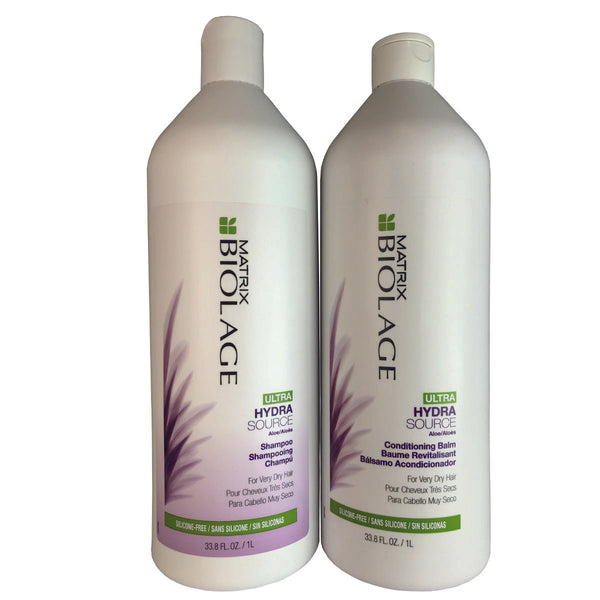 Matrix Biolage Ultra Hydrasource Hair Shampoo and Conditioning Balm Duo 33.8 oz.