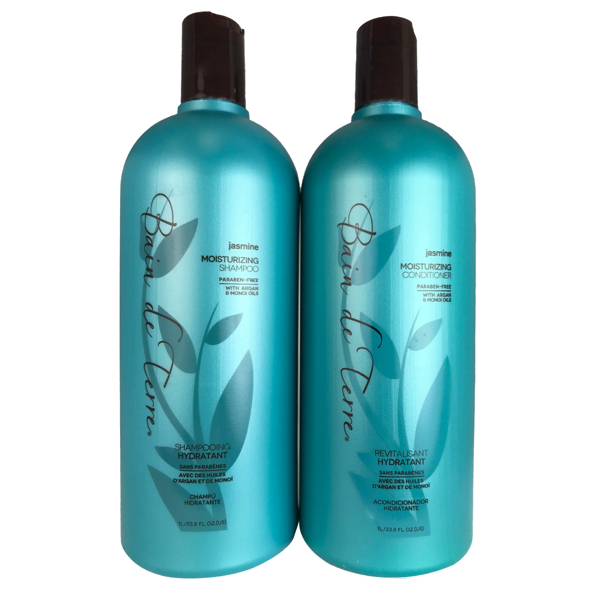 Bain De Terre Jasmine Hair Shampoo and Conditioner Duo 33.8 oz Each