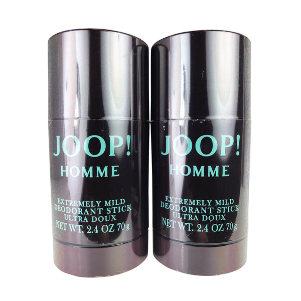 Joop Homme Extremely Mild Deodorant Stick 2.4 oz each Alcohol Free TWO