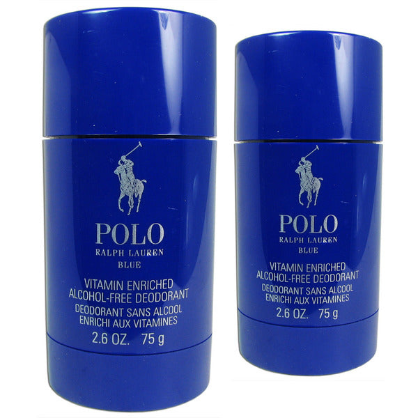 Polo Blue Stick Deodorant for Men by Ralph Lauren 2.6 oz Alcohol Free / 2 Pieces
