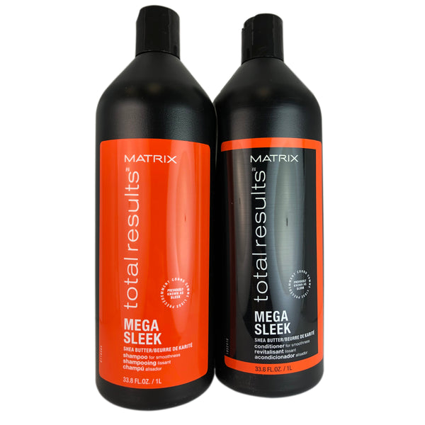 Matrix Total Results Mega Sleek Shea Butter Shampoo & Conditioner Duo 33.8 oz Each