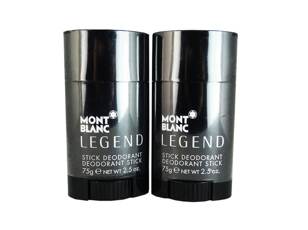 Legend for Men by Mont Blanc 2.5 oz Deodorant Stick (Two)