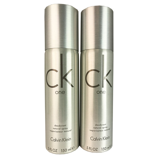 CK One By Calvin Klein Unisex 5 oz Deodorant Spray - Two