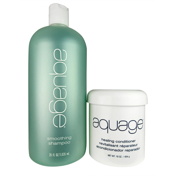 Aquage Smooth And Sleek Duo 35 oz-16 oz