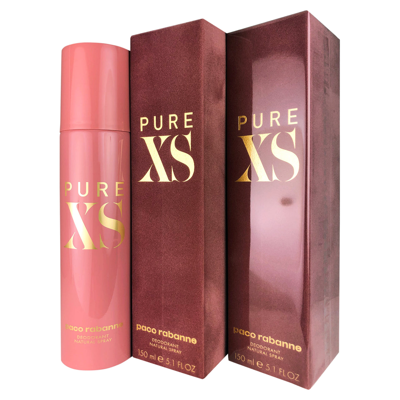 XS Pure Deodorant Spray Women 5.1 oz-TWO