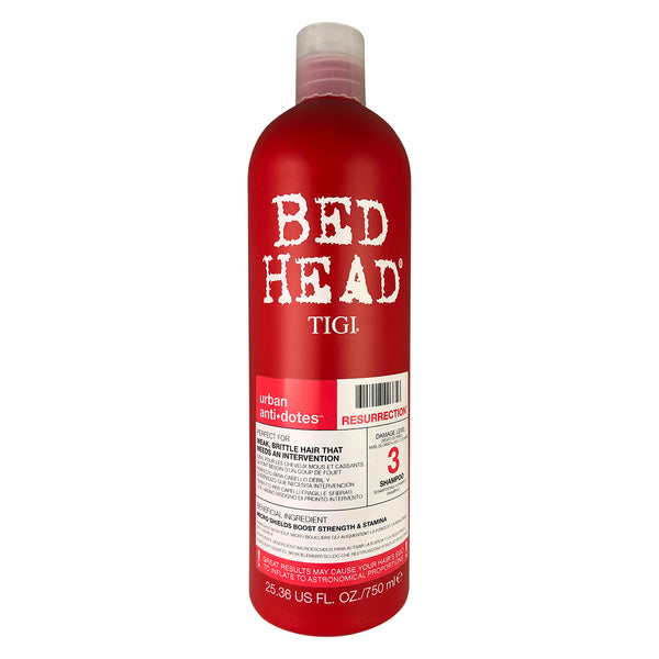 Bed Head Tigi Urban Antidotes Resurrection Hair Shampoo #3 25.36 oz For Weak Brittle Hair with damage level 3