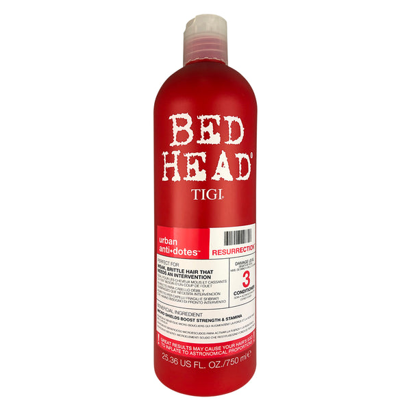Bed Head Tigi Urban Antidotes Resurrection Hair Conditioner #3 25.36 oz For Weak Brittle Hair with damage level 3
