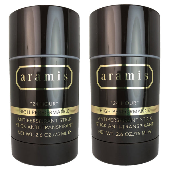 Aramis 24 Hour High Performance Antiperspirant Stick for Men 2.6 Oz (2 PACK)