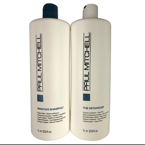 Paul Mitchell Original Awapuhi Shampoo & The Detangler Conditioner Duo 33.8 oz each