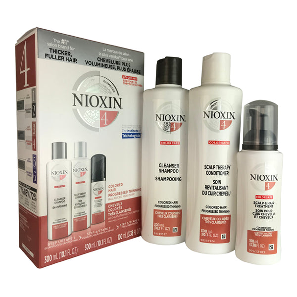 Nioxin #4  Hair Care System 3 Pc Kit for Colored Progressed Thinning Hair 10.1 oz