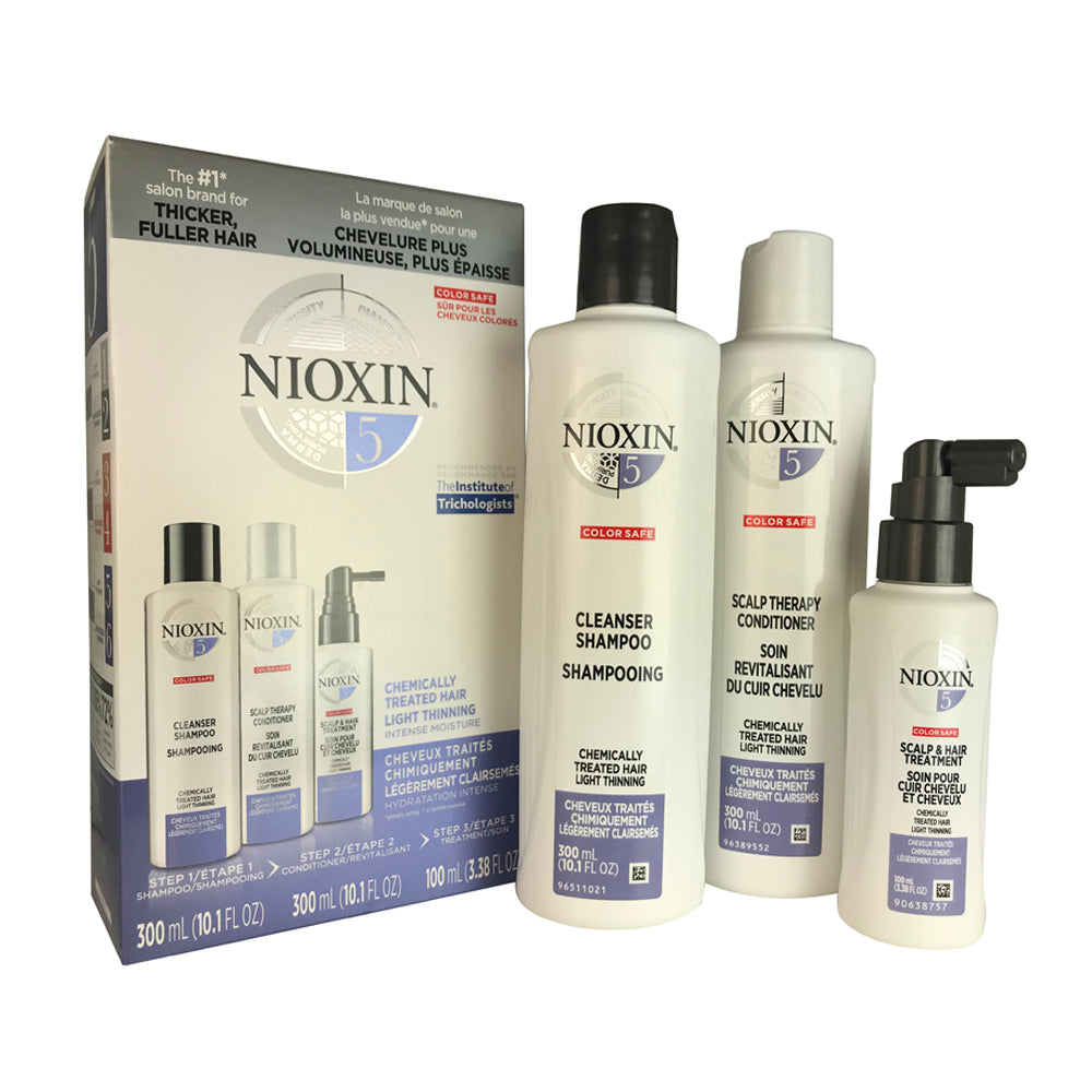 Nioxin #5  Hair Care System Kit for Chemically Treated Light Thinning Hair 10.1oz