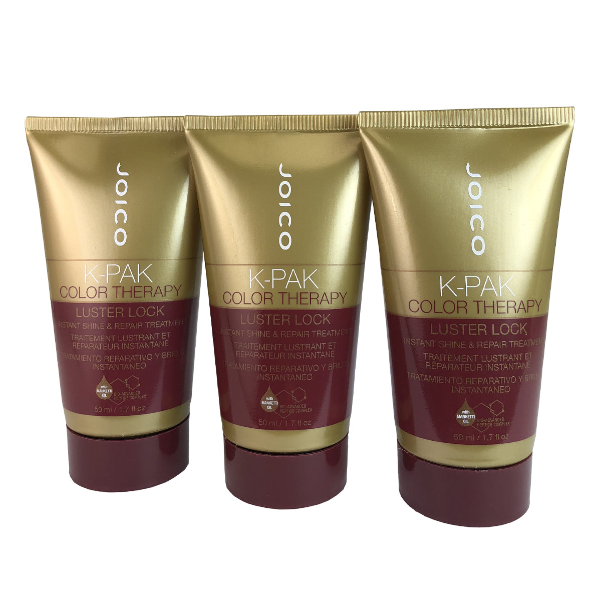 Joico K-Pak Hair Color Therapy Luster Lock - Travel Size - 3 Pieces 1.7 oz each