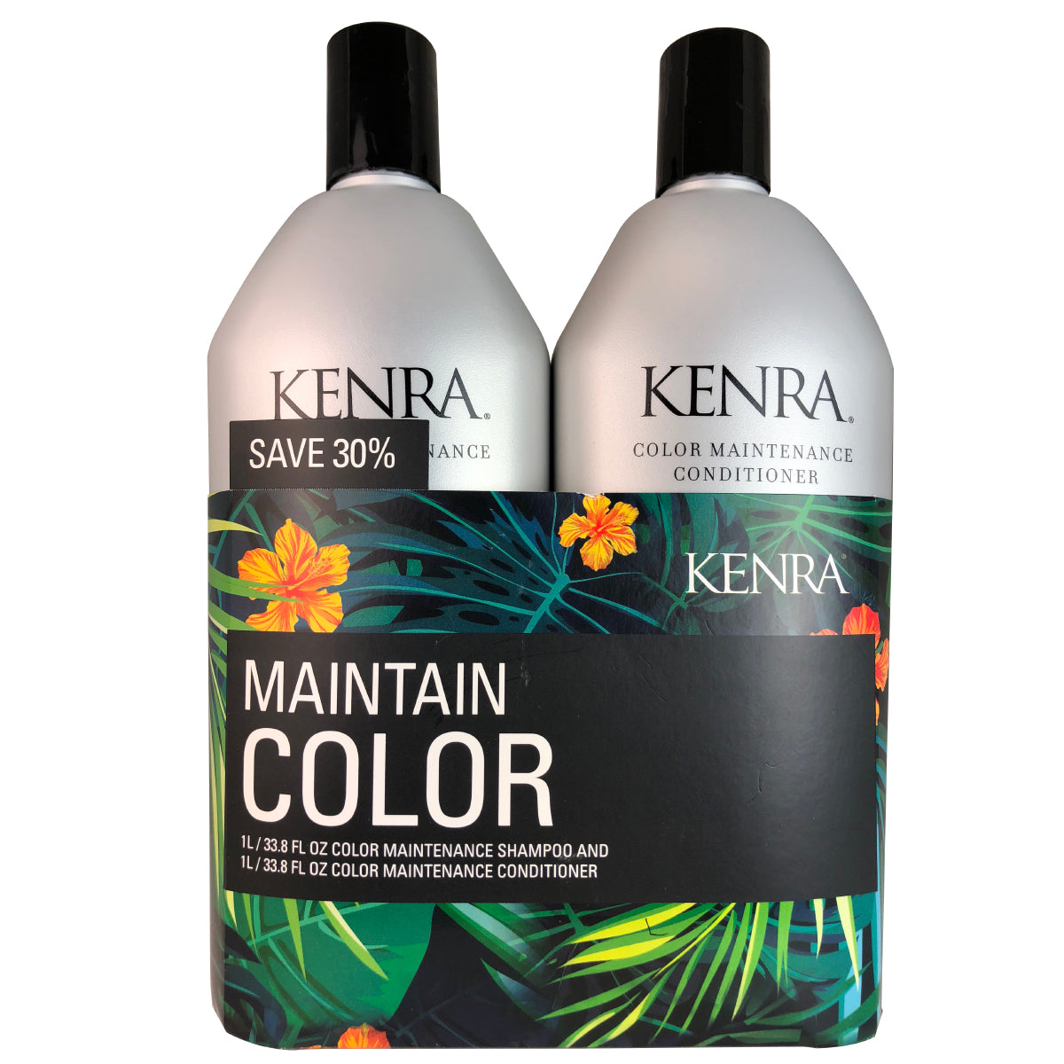 KENRA Color Locking Maintenance Shampoo & Conditioner Liter Duo 33.8 oz each