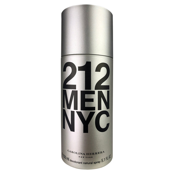 212 By Men NYC By Carolina Herrera Deodorant Natural Spray for Men 5.1 oz