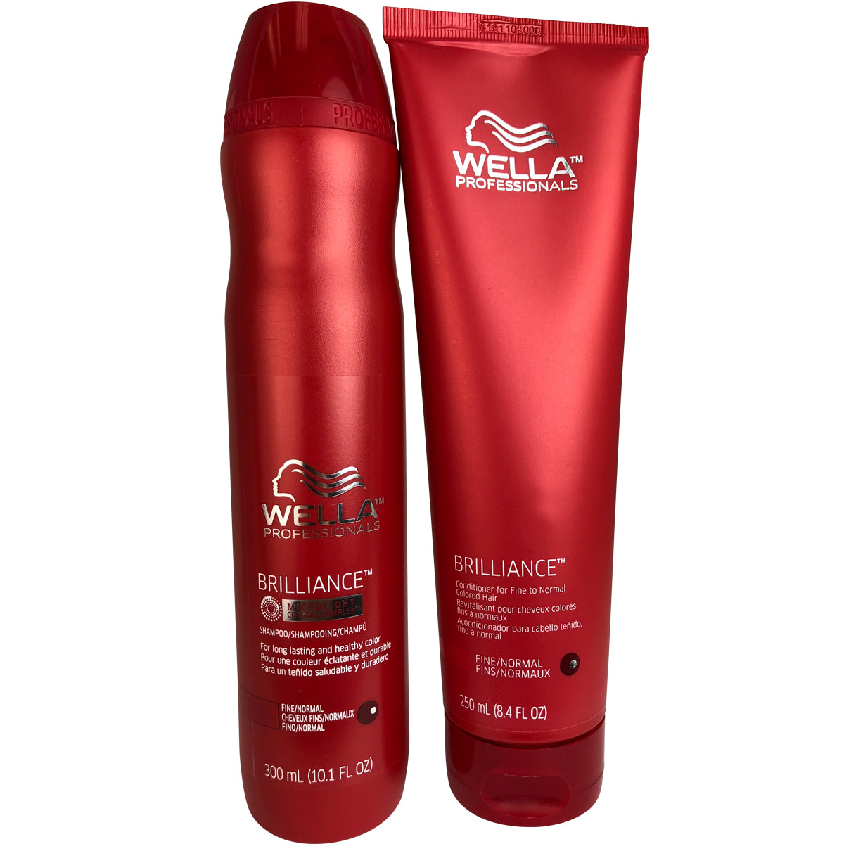 Wella Brilliance Shampoo & Conditioner Fine 2 Normal Colored Hair 10.1 oz/8.4 oz