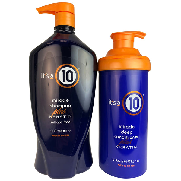 It's a 10 Miracle Shampoo & Deep Conditioner Plus Keratin Duo 33.3 oz - 17.5 oz