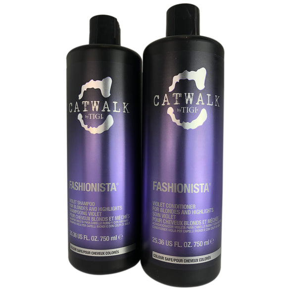 TIGI Catwalk Fashionista Violet Shampoo & Conditioner Duo 25.36 oz Each