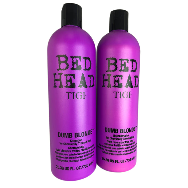 TIGI Bed Head Dumb Blonde Shampoo & Reconstructor Duo 25.36 oz Each