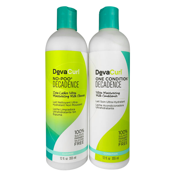 Devacurl No-Poo Decadence And One Condition Decadence 12 oz Each for Hair