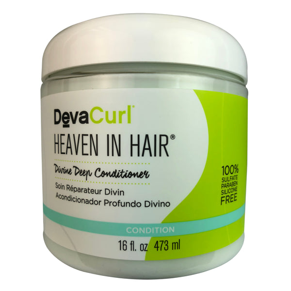Devacurl Heaven In Hair Divine Hair Deep Conditioner 16 oz 100% Sulfate Paraben and Silicon Free